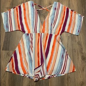 Peach Love Multi Colored Romper